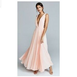 Fame and partner x free people baby pink maxi 10